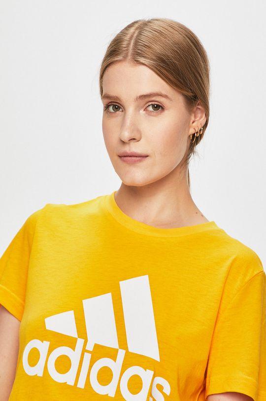 sárga adidas Performance - T-shirt