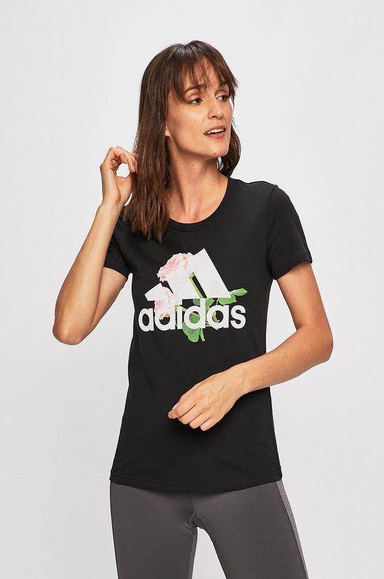 fekete adidas Performance - T-shirt Női