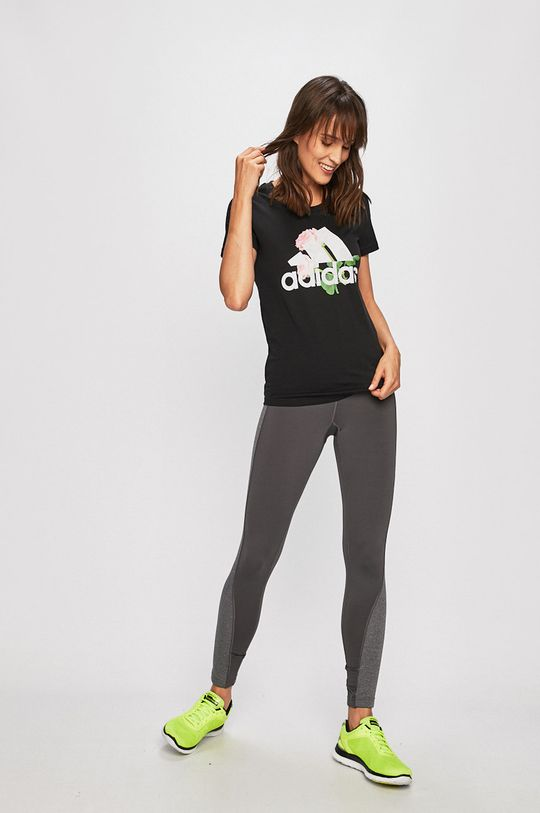 adidas Performance - T-shirt fekete