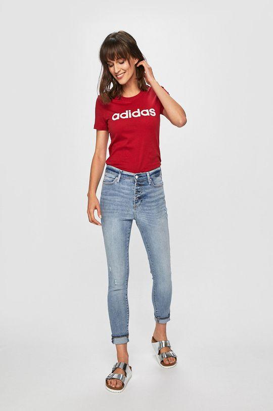 adidas - Top kármin vörös