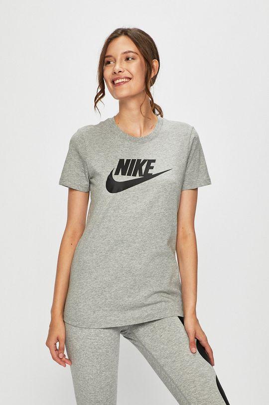 szary Nike Sportswear - T-shirt Damski