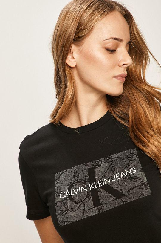 čierna Calvin Klein Jeans - Tričko