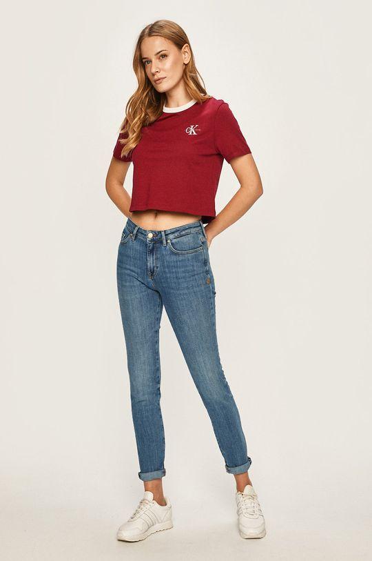 Calvin Klein Jeans - Tričko gaštanová
