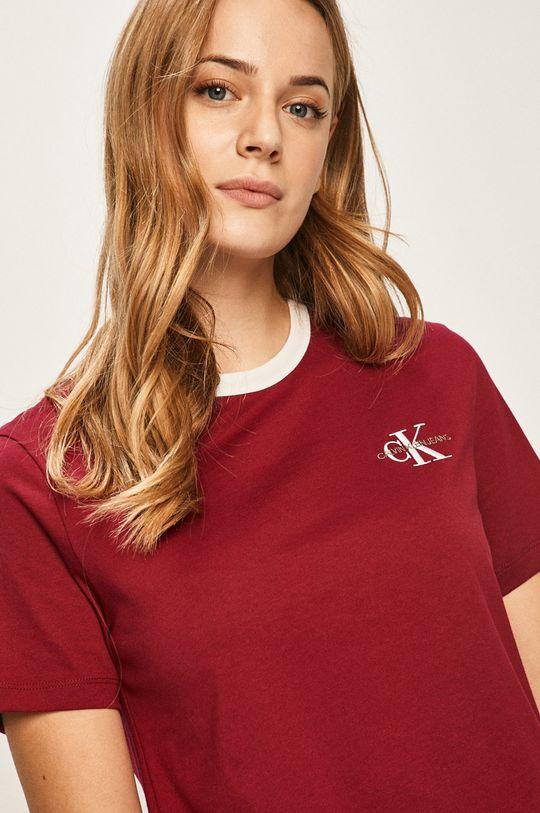 gaštanová Calvin Klein Jeans - Tričko