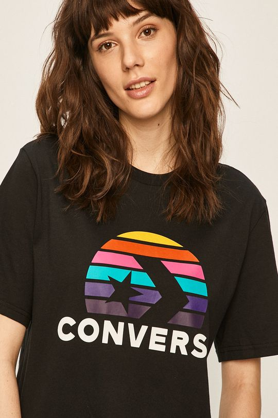 czarny Converse - T-shirt