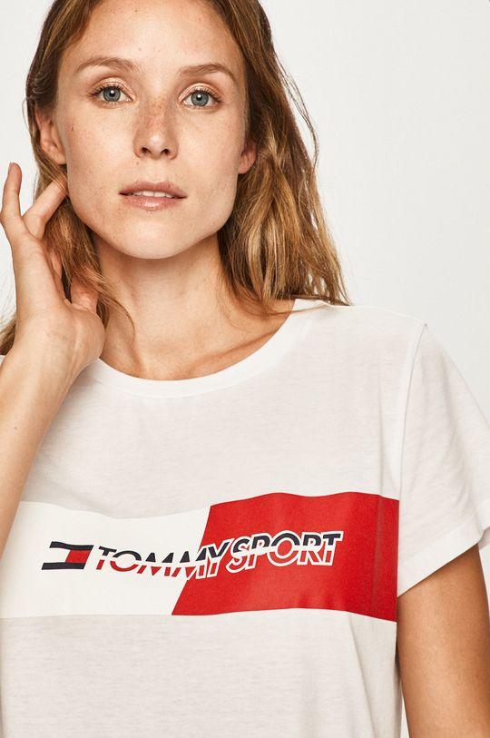 alb Tommy Sport - Tricou