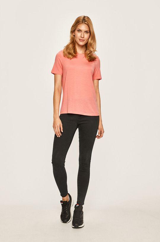 Vero Moda - T-shirt brudny róż