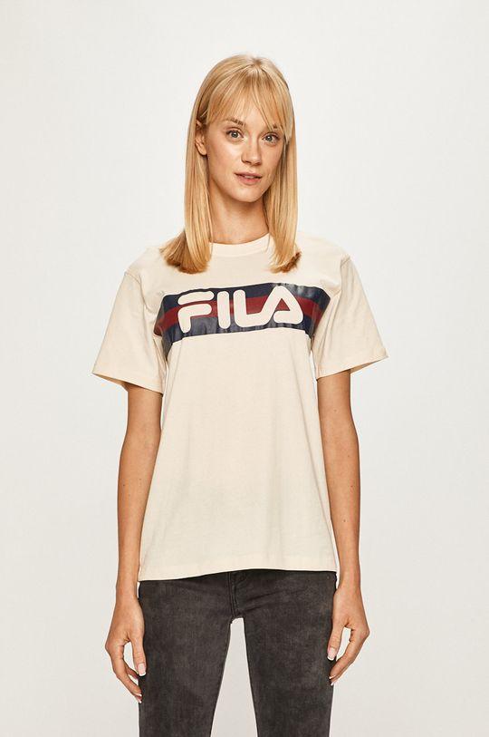 kremowy Fila - T-shirt Damski