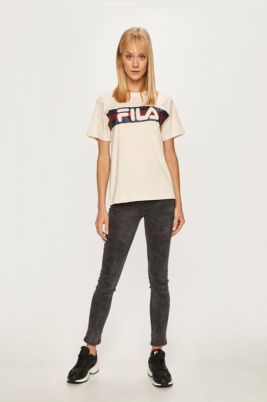 Fila - T-shirt kremowy
