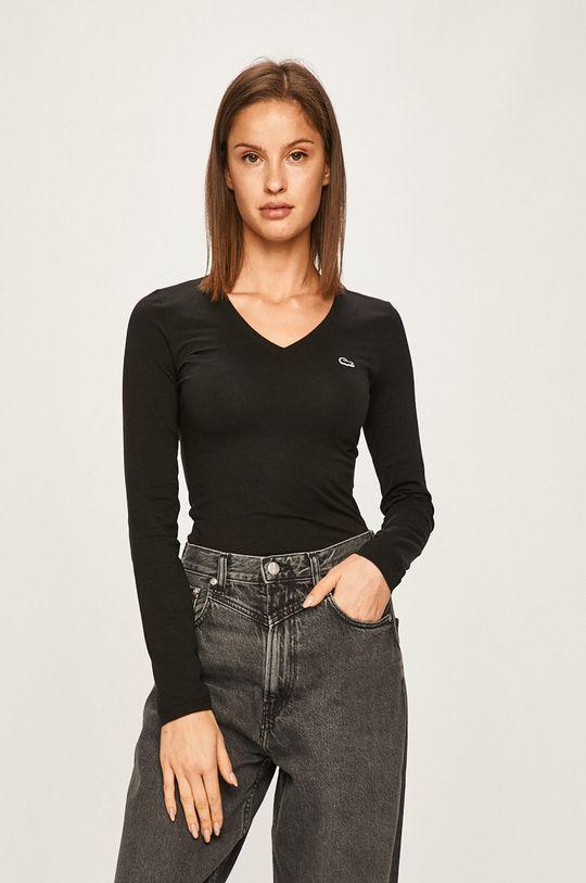 čierna Lacoste - Tričko s dlhým rúkavom Dámsky
