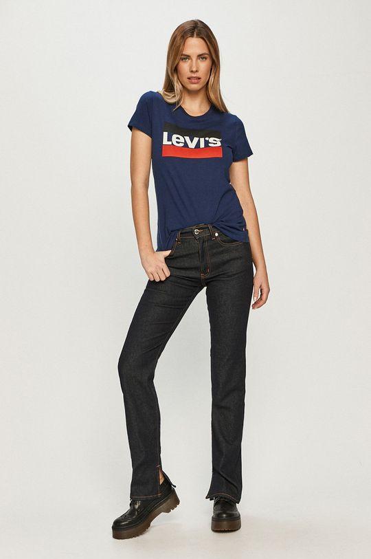 granatowy Levi's - T-shirt Damski
