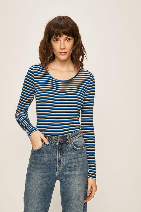 modrá Only - Tričko s dlouhým rukávem Dámský