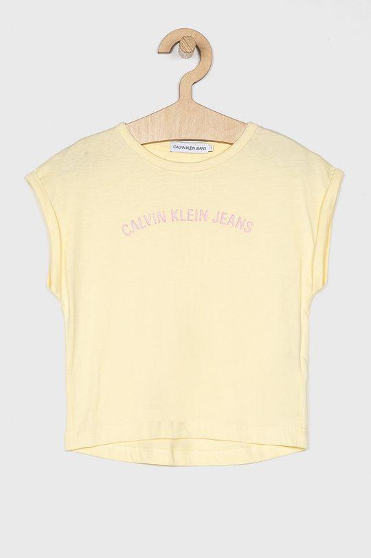 galben Calvin Klein Jeans - Top copii 104-176 cm De fete