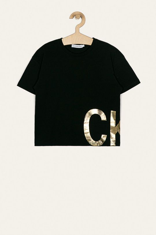 čierna Calvin Klein Jeans - Detské tričko 128-176 cm Dievčenský