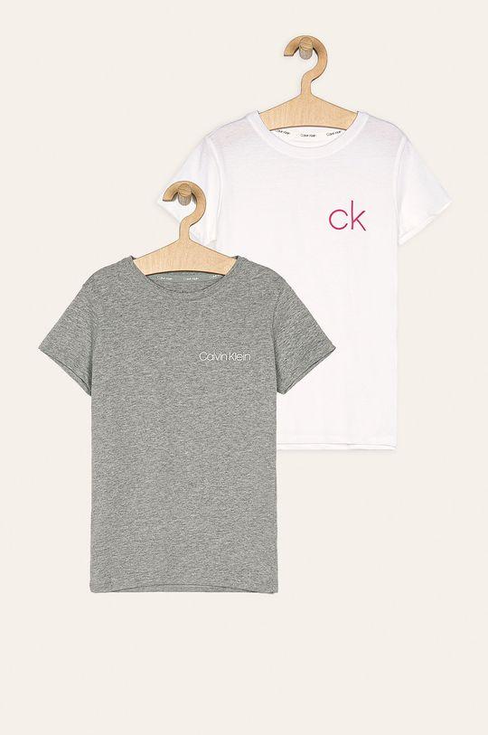 svetlosivá Calvin Klein Underwear - Detské tričko 128-176 cm (2 pak) Dievčenský