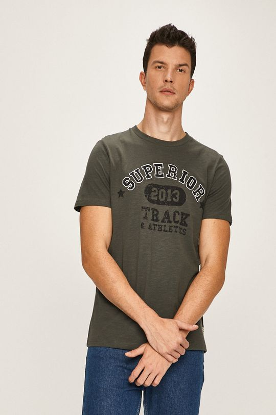 zelená Produkt by Jack & Jones - Pánske tričko Pánsky