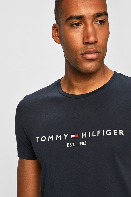 tmavomodrá Tommy Hilfiger - Pánske tričko Pánsky