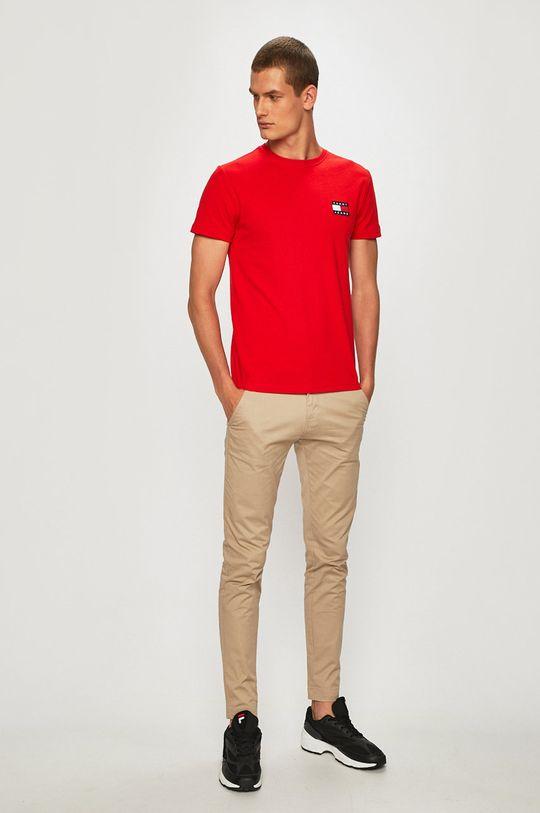 Tommy Jeans - T-shirt czerwony