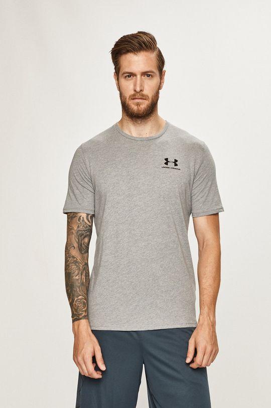 svetlosivá Under Armour - Pánske tričko Pánsky
