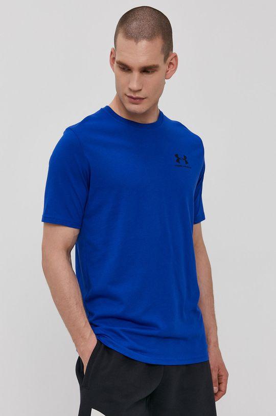 granatowy Under Armour - T-shirt Męski