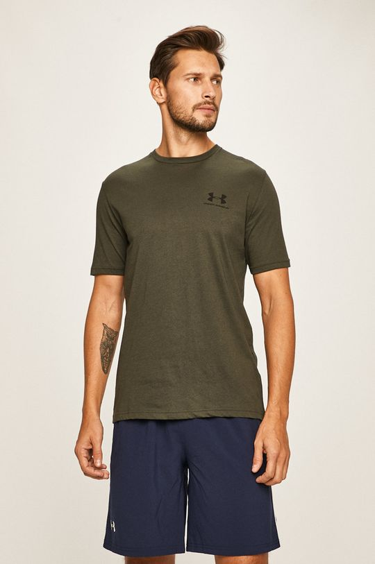 vojenská zelená Under Armour - Pánske tričko Pánsky