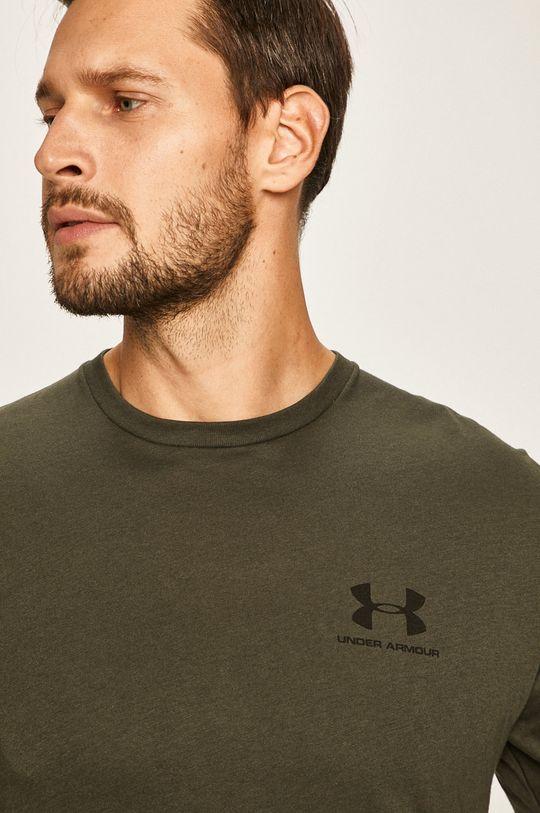 vojenská zelená Under Armour - Pánske tričko