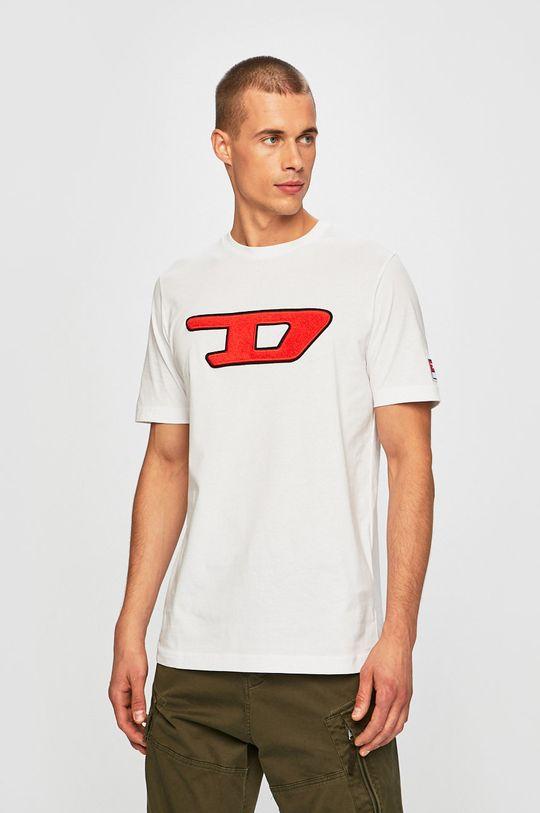 bílá Diesel - Tričko Pánský