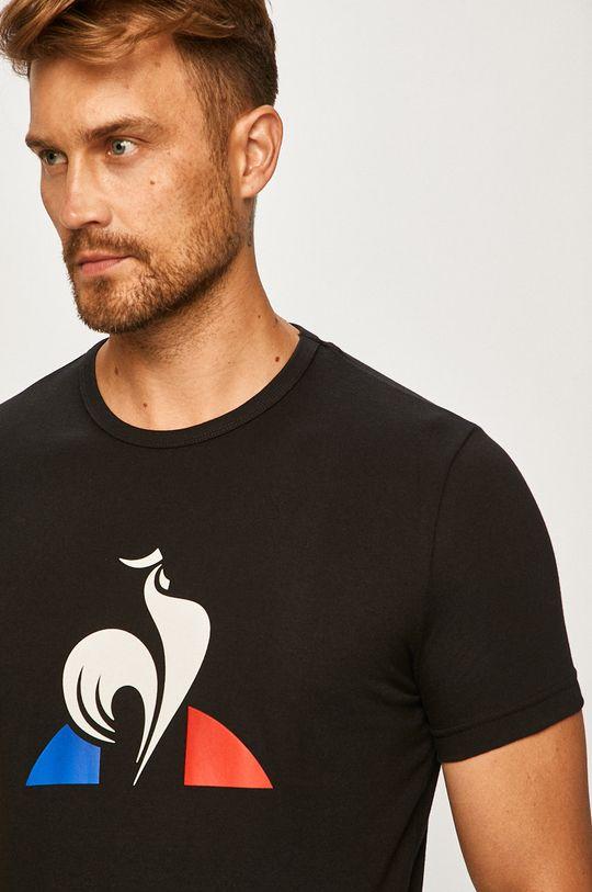 čierna Le Coq Sportif - Pánske tričko Pánsky