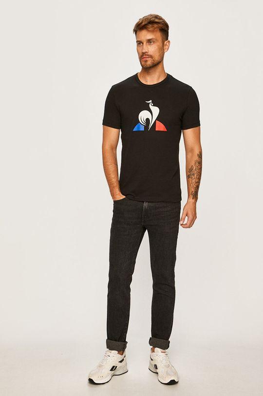 Le Coq Sportif - Pánske tričko čierna