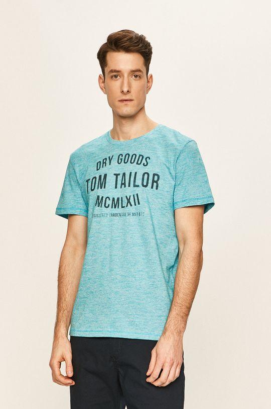albastru Tom Tailor Denim - Tricou De bărbați