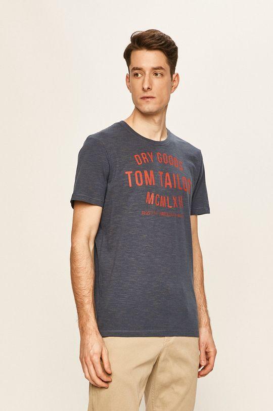 albastru metalizat Tom Tailor Denim - Tricou De bărbați