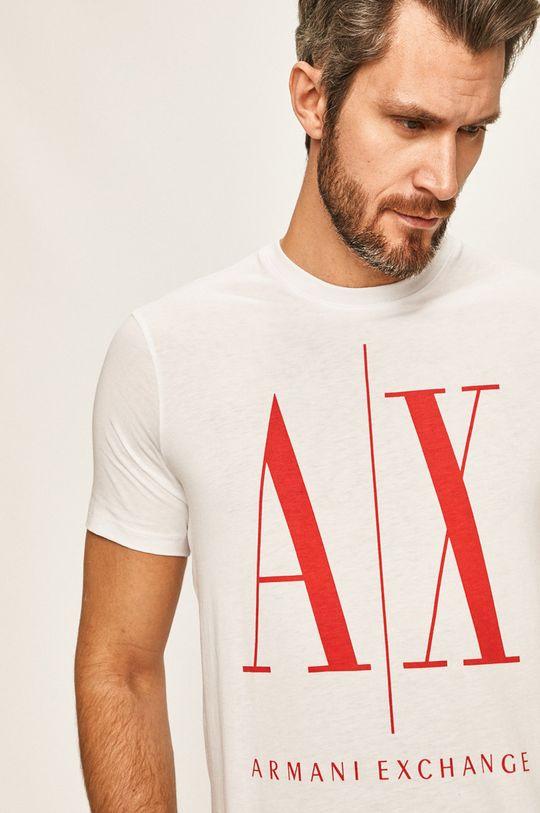 bílá Armani Exchange - Tričko