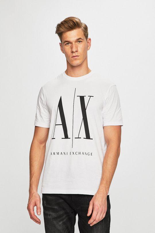 bílá Armani Exchange - Tričko Pánský