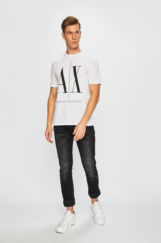 Armani Exchange - Tričko bílá