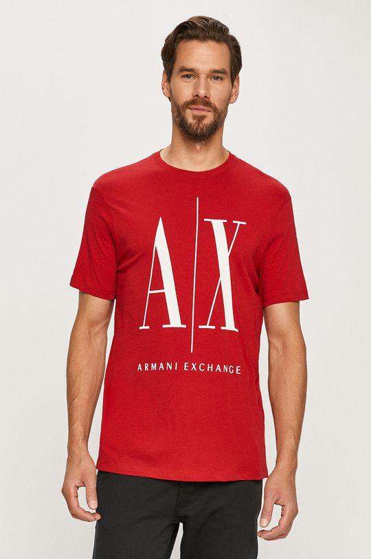 czerwony Armani Exchange - T-shirt Męski