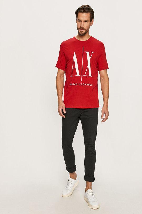 Armani Exchange - T-shirt czerwony