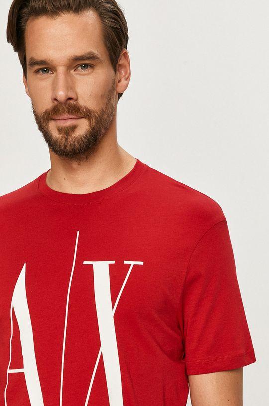 czerwony Armani Exchange - T-shirt