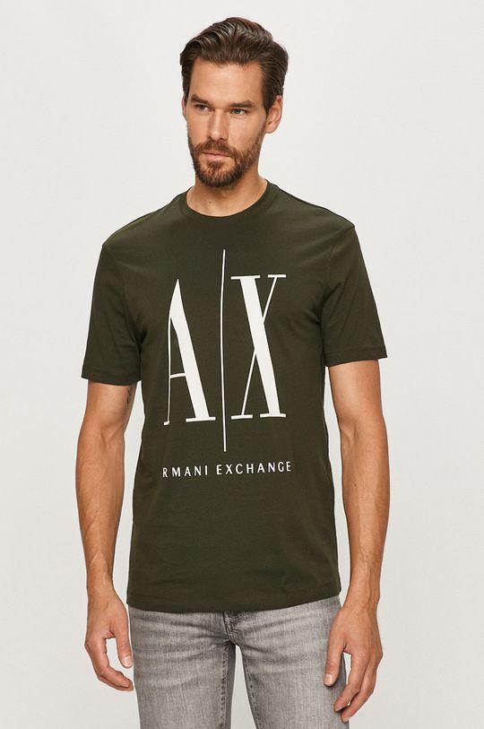 ciemny zielony Armani Exchange - T-shirt