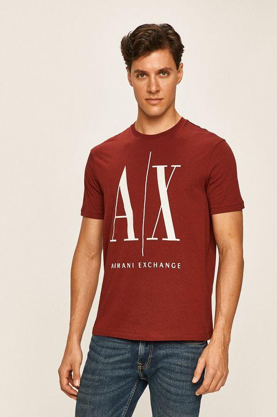 gaštanová Armani Exchange - Pánske tričko Pánsky