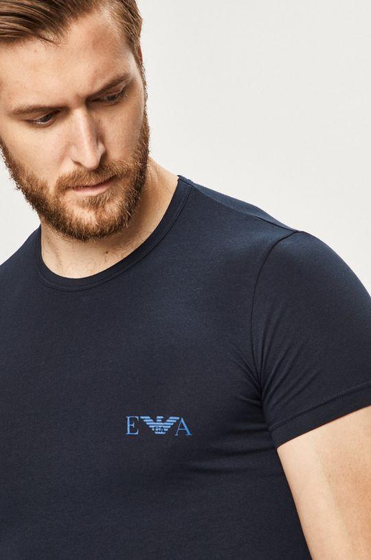 tmavomodrá Emporio Armani - Pánske tričko (2-pak) Pánsky