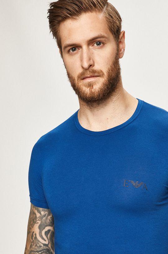Emporio Armani - Pánske tričko (2-pak) tmavomodrá