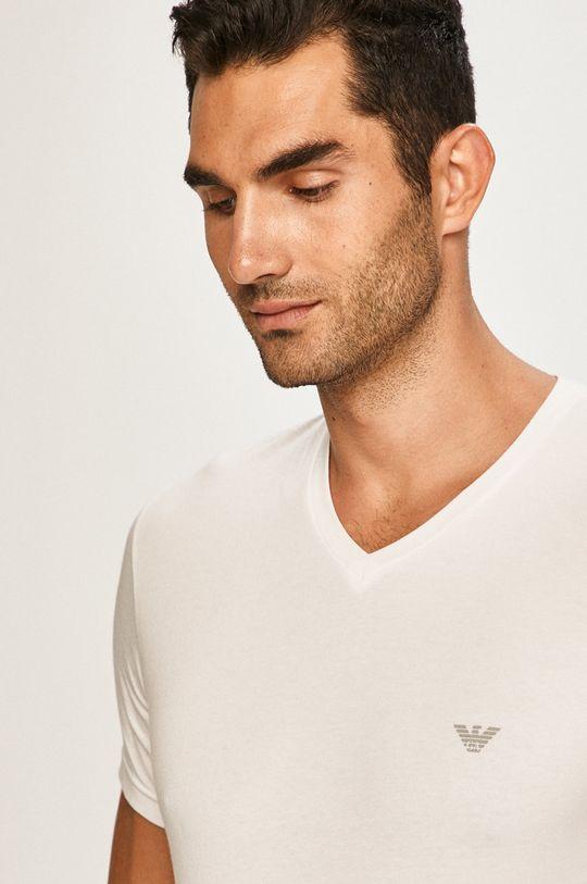 biela Emporio Armani - Pánske tričko