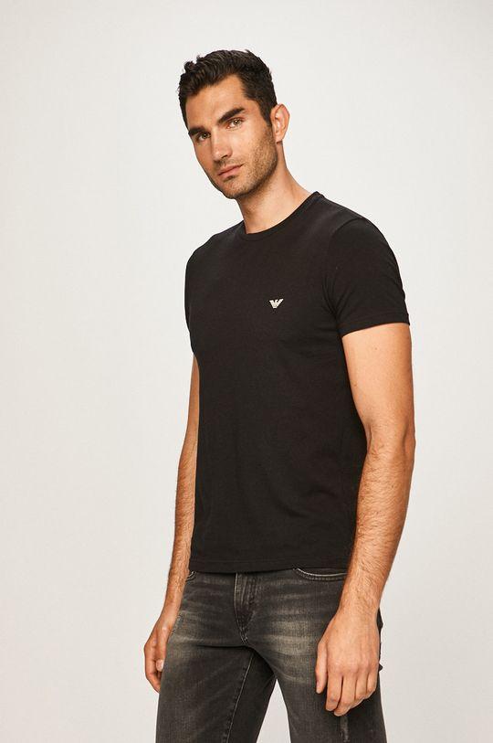 Emporio Armani - Pánske tričko (2 pak) čierna