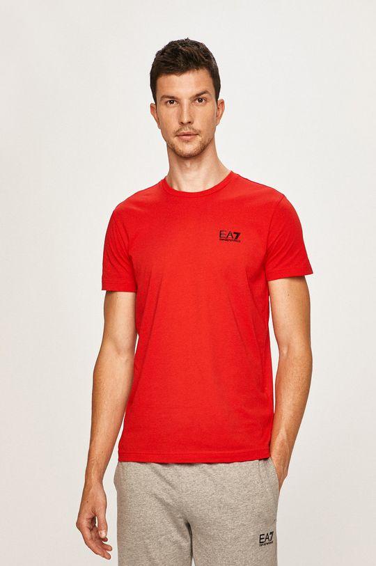 červená EA7 Emporio Armani - Pánske tričko Pánsky