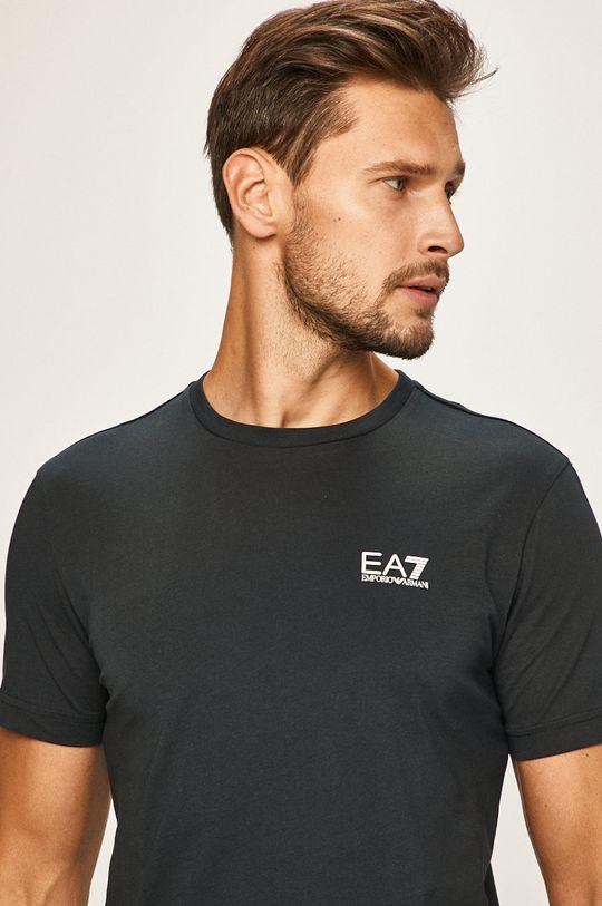 tmavomodrá EA7 Emporio Armani - Pánske tričko