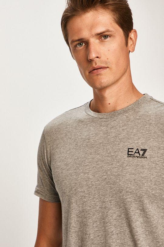 šedá EA7 Emporio Armani - Tričko Pánský
