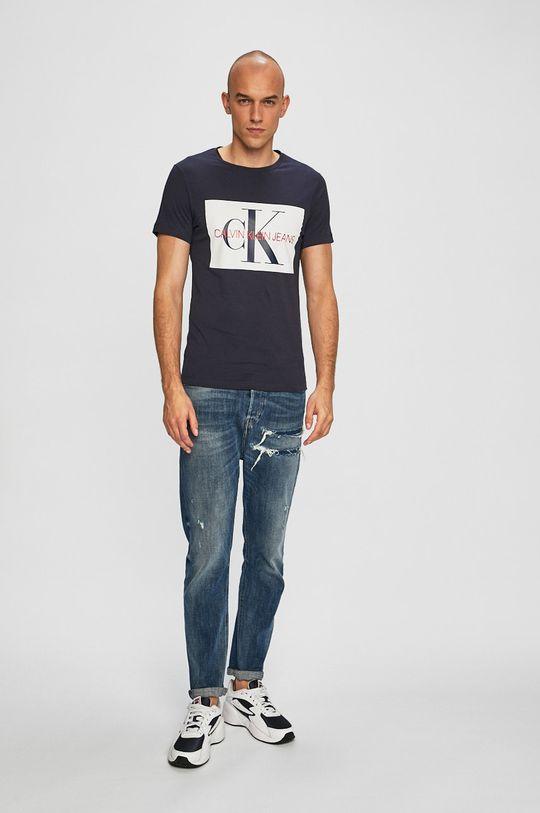 Calvin Klein Jeans - Tričko námořnická modř