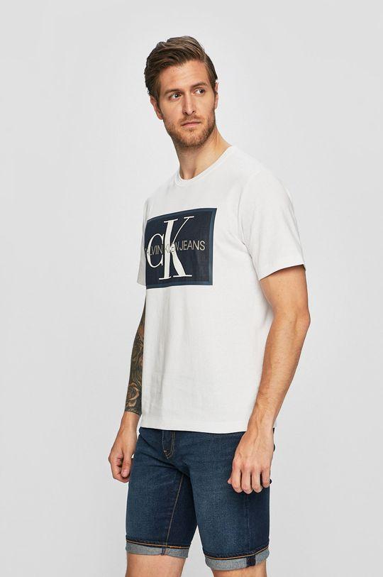 bílá Calvin Klein Jeans - Tričko Pánský