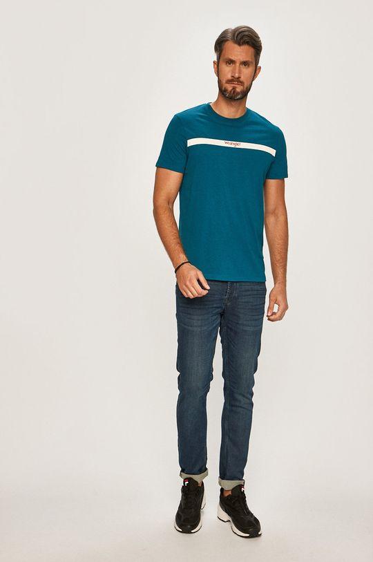 Wrangler - Pánske tričko modrá