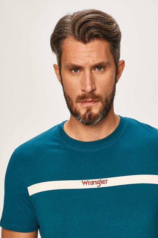 modrá Wrangler - Pánske tričko